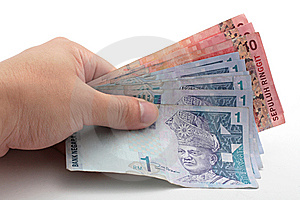 Hand Holding Cash Stock Image - Image: 14315711