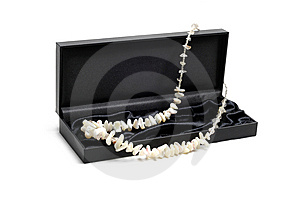 Necklace With Box Royalty Free Stock Photography - Image: 14317487