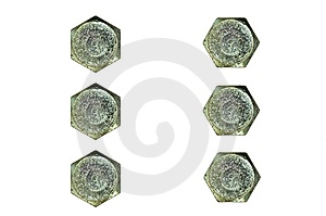 Big Hexagonal Cap Screw Heads Royalty Free Stock Photo - Image: 14320335