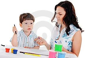 Junge Mutter Und Sohn Lizenzfreies Stockbild - Bild: 14321236