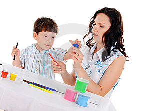 Young Mother And Son Stock Image - Image: 14321251