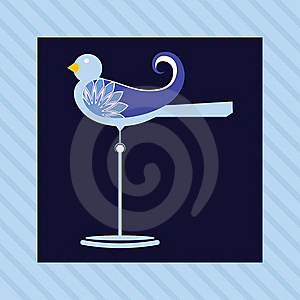Bird On A Perch Royalty Free Stock Photos - Image: 14322428