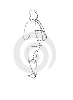 With A Backpack After The Back Royalty Free Stock Image - Image: 14322966