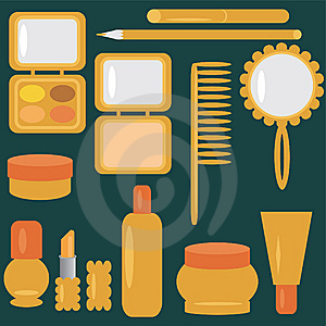 Set With Cosmetics And Make-up Stock Images - Image: 14323194