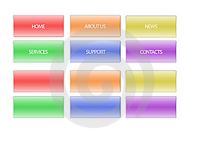 Buttons For Webpage Royalty Free Stock Photography - Image: 14324127