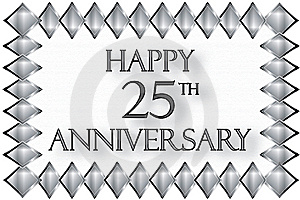 Happy 25th Anniversary Illustration Royalty Free Stock Photography - Image: 14325027