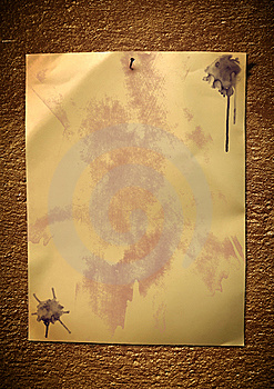 Paper With Stains And Blots Royalty Free Stock Photography - Image: 14325277