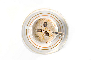Top View Of A Coffee Cup Royalty Free Stock Image - Image: 14325696