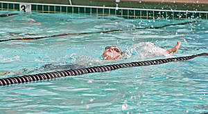 Young Boy /Backstroke In Pool Stock Photo - Image: 14326160
