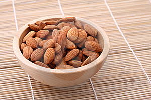 Bowl Of Almonds Royalty Free Stock Image - Image: 14327846