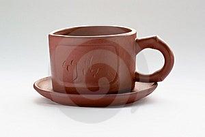 The Chinese Clay Mug Stock Image - Image: 14328011