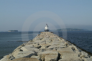 Walk To Spring Point Lighthouse Stock Image - Image: 14328061