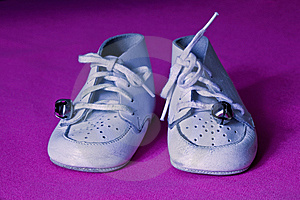 White Baby Shoes Stock Image - Image: 14328071