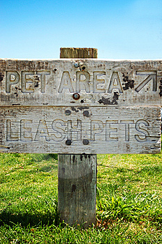 Pet Area Sign Royalty Free Stock Images - Image: 14328429