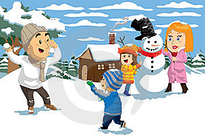 Snow Fight Stock Image - Image: 14328531