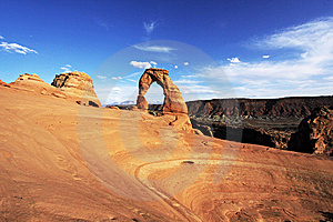 Delicate Arch Landscape Stock Image - Image: 14328851