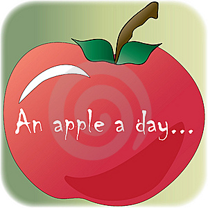 An Apple A Day... Illustration Royalty Free Stock Images - Image: 14330309