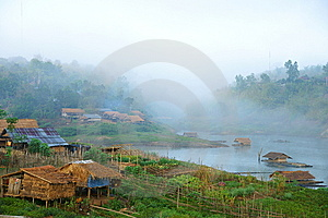 Mon Village, Bathing In Fog. Royalty Free Stock Photo - Image: 14330325