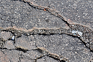 Cracked Road Surface Stock Photos - Image: 14330773