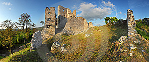 Ruin Of Castle Hrusov Stock Image - Image: 14332411