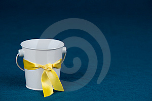 Bucket With Yellow Ribbon Stock Photography - Image: 14333652