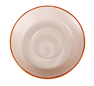 Empty Saucer Royalty Free Stock Image - Image: 14334836