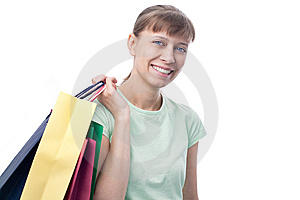 Happy Woman With Shopping Bags Stock Photo - Image: 14335860