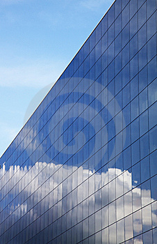 Modern Office Building And Blue Sky Reflection Royalty Free Stock Photos - Image: 14336018