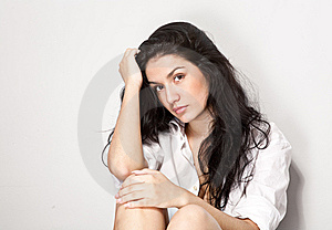 Young Sexy Black Hair Woman Stock Images - Image: 14336354
