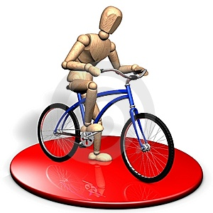 Businessman With A Bicycle Royalty Free Stock Photography - Image: 14336437