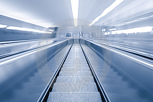Blurred Motion Escalator Royalty Free Stock Photography - Image: 14337587