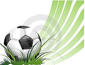 Football Background With Ball Royalty Free Stock Photos - Image: 14338378