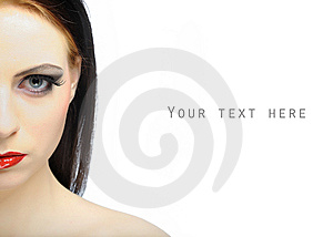 Beautiful Sexy Woman With Bright Party Makeup Royalty Free Stock Image - Image: 14339316