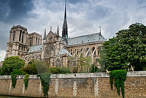 Stormy Notre Dame Royalty Free Stock Photography - Image: 14340037