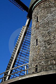 Old Wooden Windmill Stock Photography - Image: 14342192