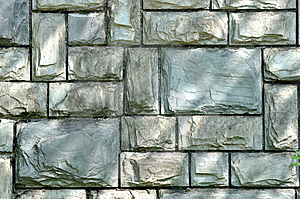 Stone Wall In Cyan Color Stock Images - Image: 14342544