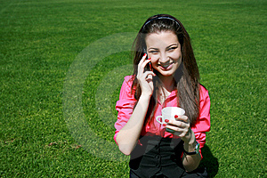Young Businesswoman Drinking Tea And Talking Stock Photos - Image: 14343083