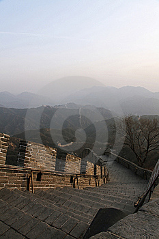 Great Wall Of China, With Cop Stock Images - Image: 14346904