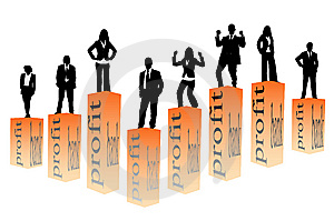 Business People And Graph Stock Image - Image: 14347071