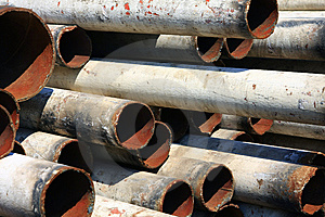 Iron Pipe Royalty Free Stock Photo - Image: 14349795