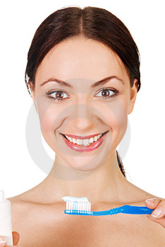 Beautiful Young Woman With A Toothy Smile Royalty Free Stock Photos - Image: 14350378