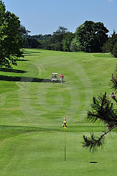 Contoured Fairway Royalty Free Stock Images - Image: 14350559