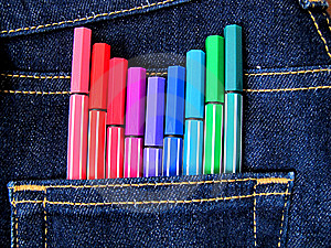 Artist's Jeans Stock Images - Image: 14350764