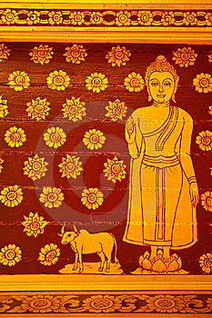 Buddha Thai Painting Royalty Free Stock Images - Image: 14351279