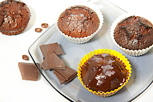 Chocolate Muffins Royalty Free Stock Images - Image: 14351569