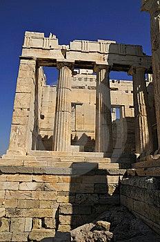 Propiela Tower Front Access Door On Acropolis Stock Photo - Image: 14352770