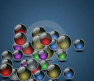 Background Of Falling Balls Royalty Free Stock Image - Image: 14352946