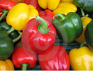 Three Colours On Pepper Royalty Free Stock Photo - Image: 14355225