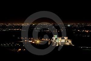 Torrechiara Castle By Night Stock Image - Image: 14355431