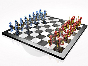 Warriors On The Chess-board Stock Images - Image: 14358564